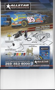 Jake in Dirt Modified  Allstar Ad